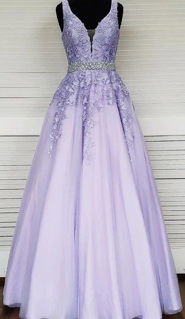 modest lace long prom dresses, ball gown graduation party dresses  ML7029