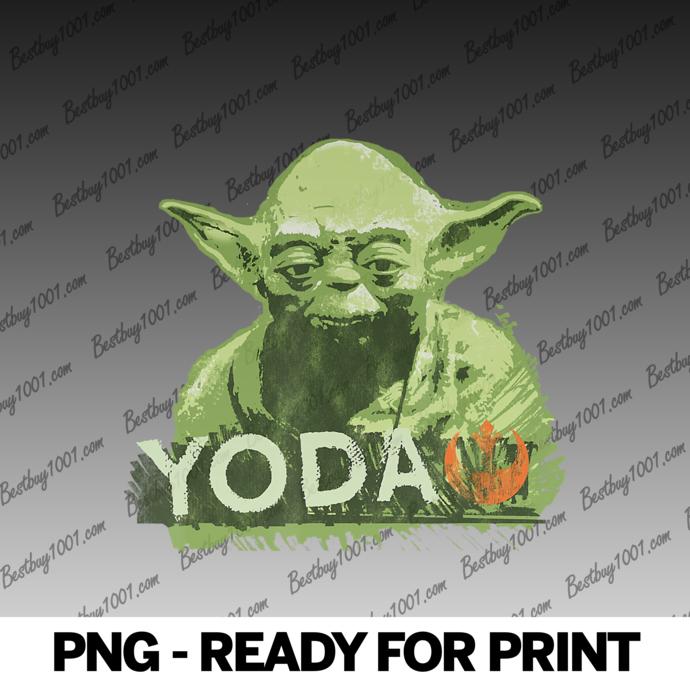 Star Wars Yoda Rebel Alliance Distressed png