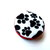 Measuring Tape Black and White Dog Paws Small Retractable Tape Measure
