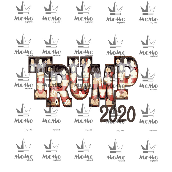 Trump 2020 svg, Trump stacked svg, Election 2020, USA, America, cut files, dxf,