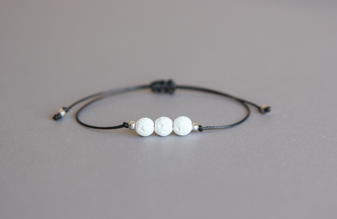 White lava bracelet Diffuser bracelet Aromatherapy jewelry Cute gift for teenage