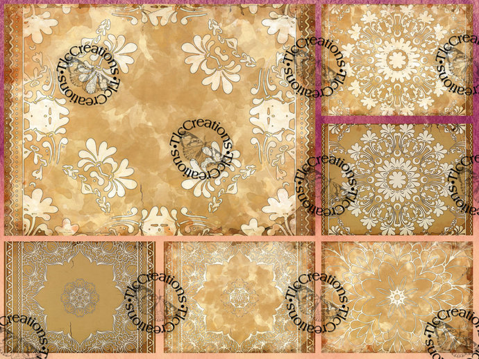 Patterned Perfection Digital Journal or Scrapbook Papers