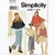 Simplicity 9340 Girls Poncho, Top, Skirt, Pants Sewing Pattern Uncut Size 7, 8,