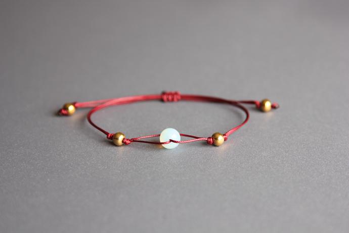 Opalite bracelet Friendship bracelet Bracelets for women Opalite jewelry Best