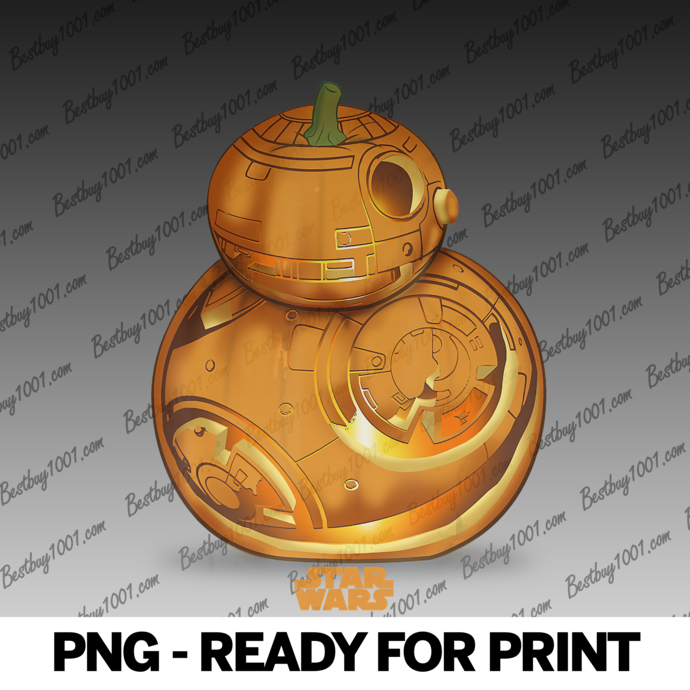 Star Wars The Force Awakens BB-8 Carved Pumpkin Halloween png