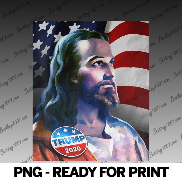 Jesus Christ Supports Trump Wearing 2020 President Trump Pin