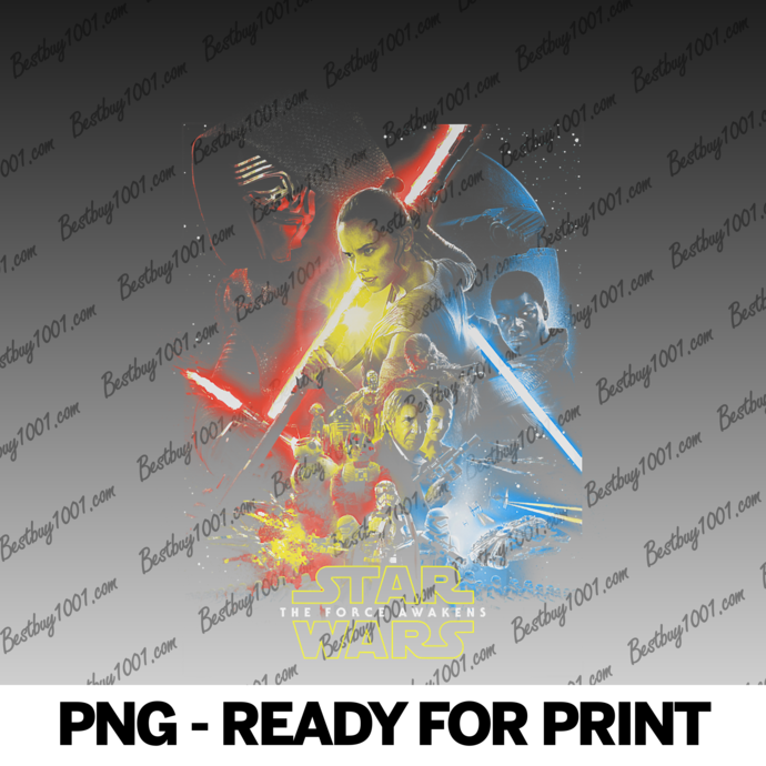 Star Wars The Force Awakens Group Collage Poster png