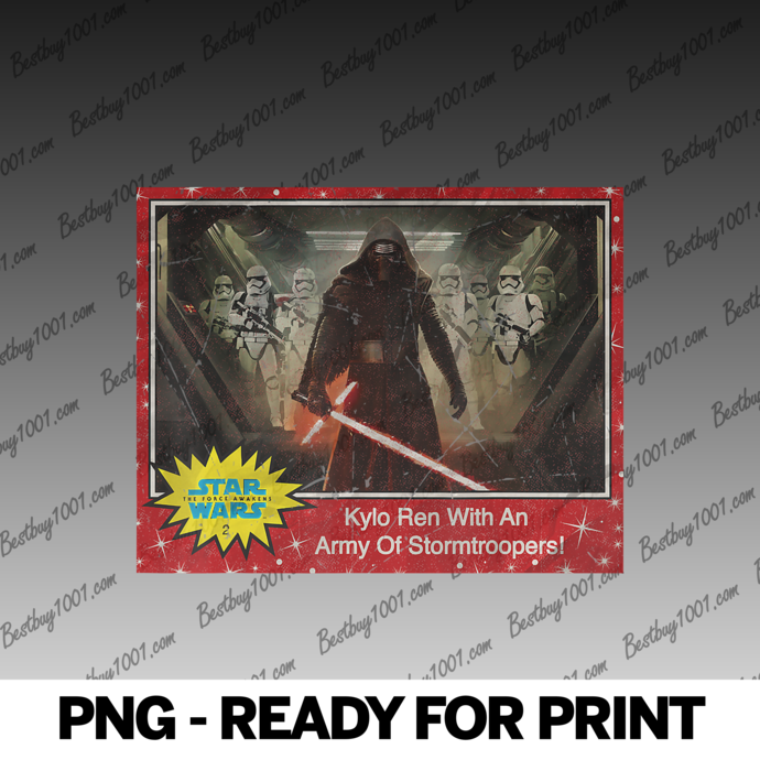 Star Wars The Force Awakens Kylo Ren & Stormtroopers Card png