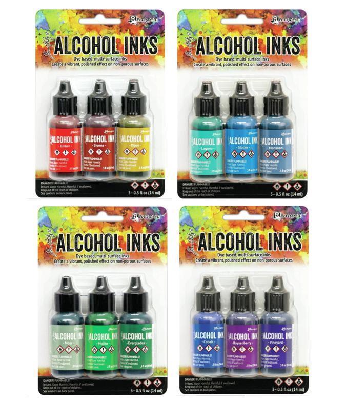 Lot of Tim Holtz Ranger ALCOHOL INK 12 bottles (#204) 2020 NEW RELEASE COLORS