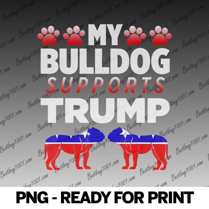 My Bulldog Supports Trump 2020 Election Gift For Dog Owners