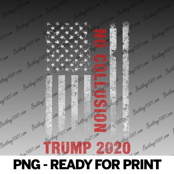No Collusion Trump 2020 US Distressed American Flag FBI