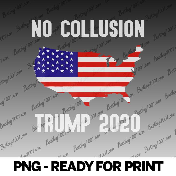No Collusion Trump 2020 USA Flag