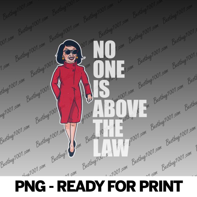 NO ONE IS ABOVE THE LAW Nancy Pelosi Impeach Trump Meme Gift