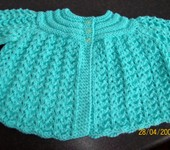 Hand Knit Baby Cardigan  STUNNING DETAIL