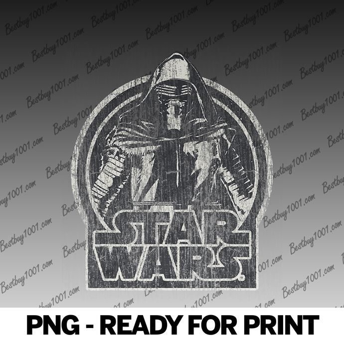 Star Wars The Force Awakens Kylo Ren Distressed Portrait png