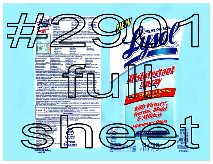 "Waterslides ""Disinfectant"" #2901-#2902 Laser Printed"