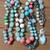 Coral Seaglass Larimar & Seashells Long Beaded Necklace with Pendant Summer by