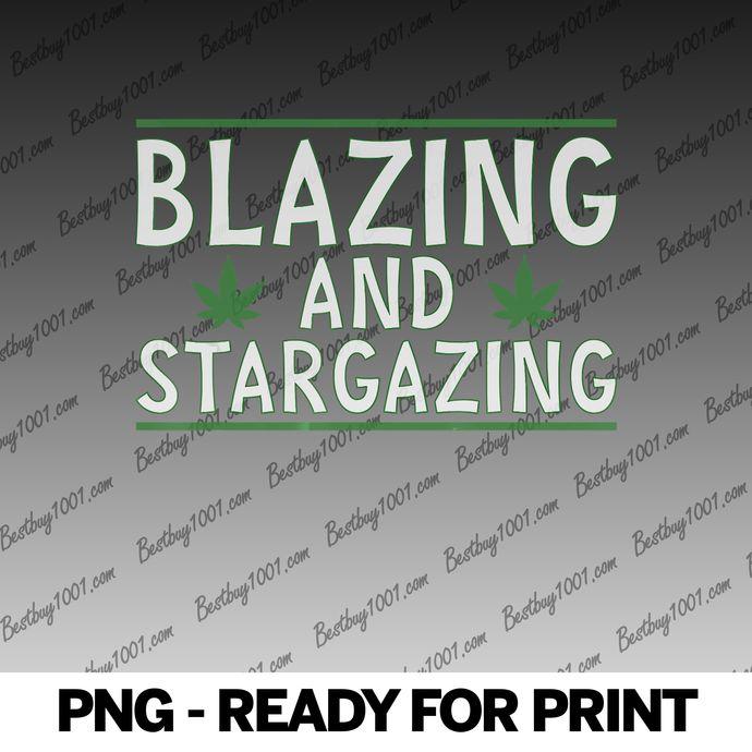 Blazing + Stargazing Marijuana Cannabis 420 WeedPot Ganja png