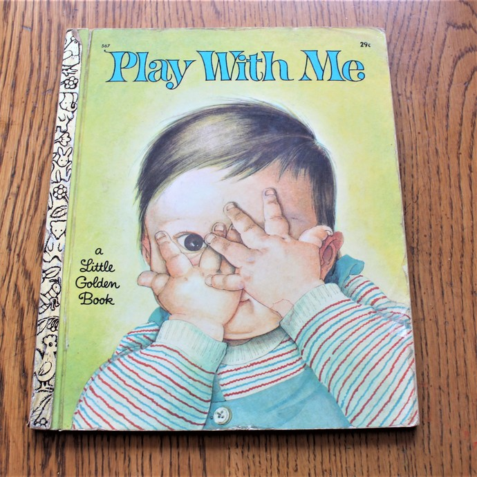 Play With Me A Little Golden Book Vintage  1967 1st Edition A  Illustrated by