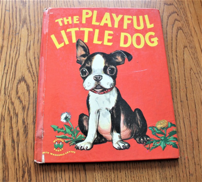 1951 Vintage The PLAYFUL LITTLE DOG Wonder Book  Illustrations by Maurice