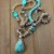Stress Relief Long Beaded necklace with Pendant Hand Knot jewelry by KnottedUp
