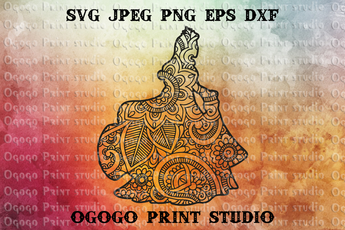 Sleeping beauty Svg, Princess Svg, Zentangle SVG, Mandala svg, Paper cutting,