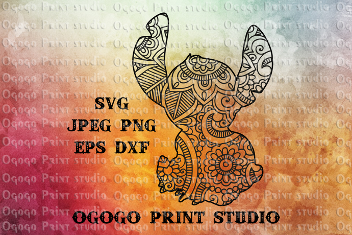 Stitch Svg, Lilo and Stitch Svg, Zentangle SVG, Mandala svg, Paper cutting,