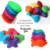 Flower Shaped Bean Bags (set of 4) Handmade from Red, Bright Pink, Blue, and