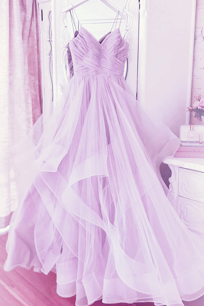 Beautiful Lavender Sweetheart Straps Long Formal Dress, Party Dress 2020