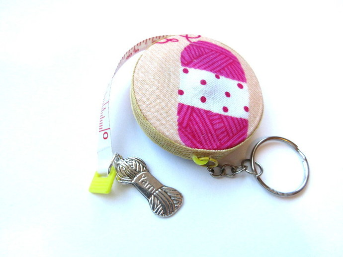 Key Chain Tape Measure Yarn Skeins and Balls Retractable Measuring Tape Key