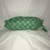 Green with Blue and White Flowers Plastic Bag Holder