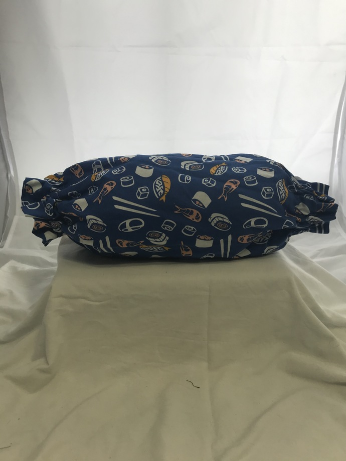 Blue Sushi Plastic Bag Holder