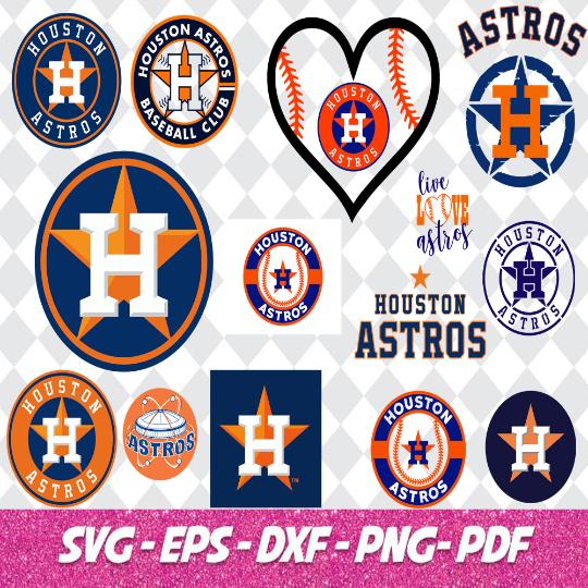 Houston Astros Cut Files, SVG Files, Baseball Clipart, Cricut Houston Astros,
