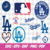 Los Angeles Dodgers Svg, Dxf, Eps, Ai, Cdr Vector Files for Silhouette, Cricut,