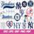 New York Yankees Cut Files, SVG Files, Baseball Clipart, Cricut New York Yankees
