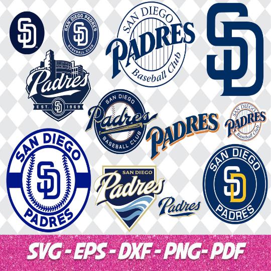 San Diego Padres Cut Files, SVG Files, Baseball Clipart, Cricut Cutting Files,