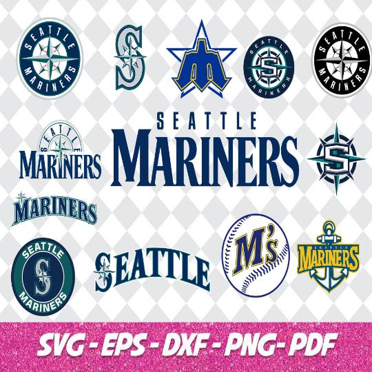 Seattle Mariners Svg Bundle, baseball Svg, T-shirt design, Cut files, Majors ,