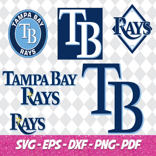 Tampa Bay Rays SVG files, baseball designs contains dxf, eps, svg, jpg, png and