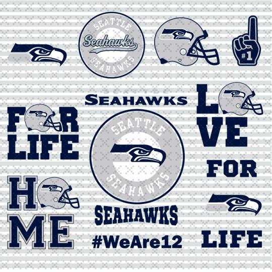 Seattle Seahawks Svg, Football Team Logo Svg, Football Svg, NCAA Svg, NFL Svg,