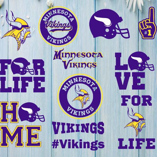 Minnesota Vikings Svg, Football Team Logo Svg, Football Svg, NCAA Svg, NFL Svg,