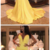 Sexy Yellow Prom Dresse Deep V Neck Sweep Train Evening Party Dresses,CD416
