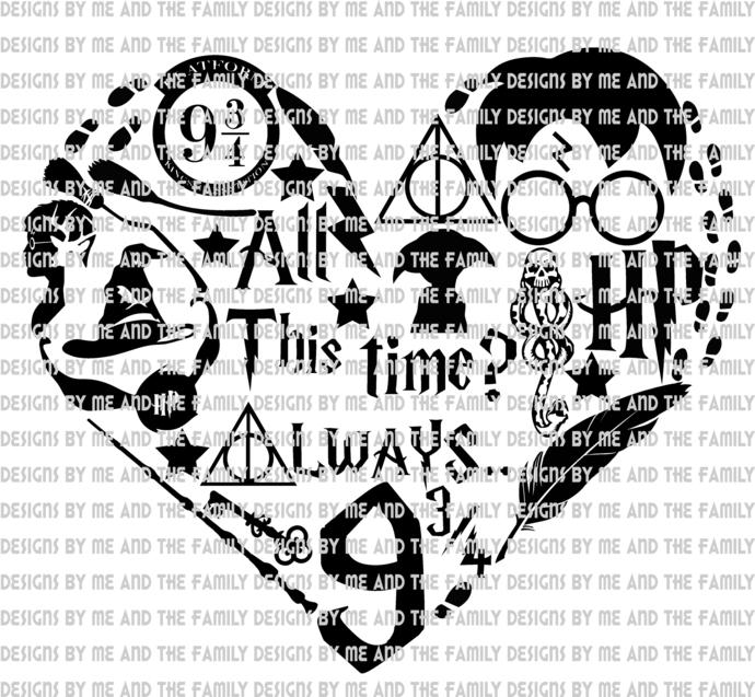 Harry potter heart, All this time, Accio Boobies, Hogwarts, Platform 9 3/4,