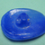 Odd Shape Moonglow Vintage Button Blue Medium Size