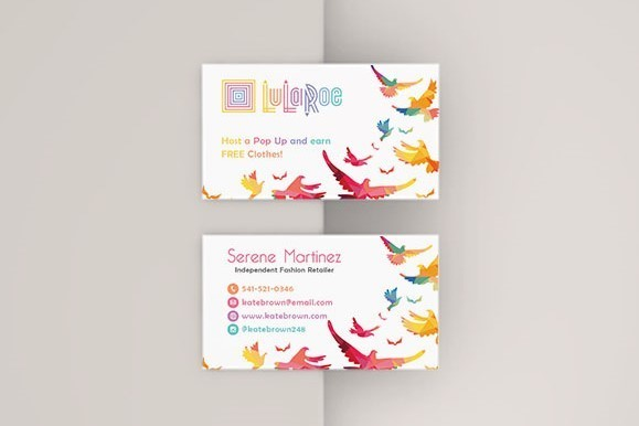 Flying Bird LuLaRoe Business Cards, LuLaRoe Independent Fashion Retailer LLR3