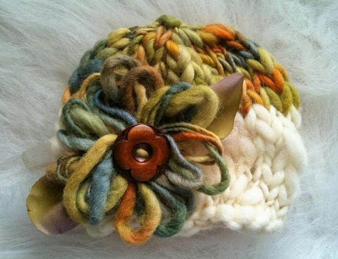 Newborn Whimsical Bloom Hat - Citrus Orchard