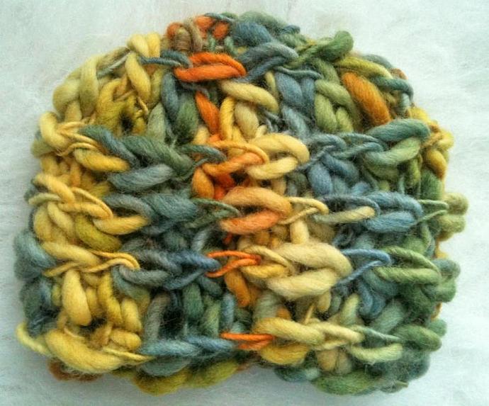 Newborn Woolly Chain Link Beanie - Citrus Orchard