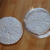 Round Knitted Trivets in White & Cream (set of 2), Handmade from Upcycled Cotton