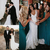 Bohemian Wedding Dresses Country Sweetheart Full Lace Appliques Beads Illusion