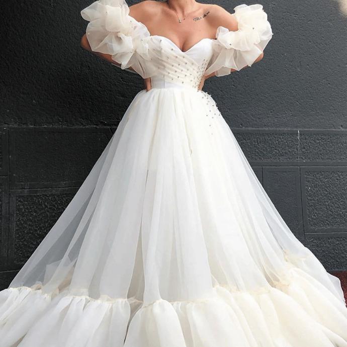 arabic prom dresses long tulle beaded sweetheart neck elegant a line cheap prom