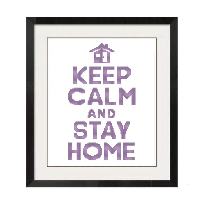 ALL STITCHES - KEEP CALM AND STAY HOME CROSS STITCH PATTERN .PDF -1239